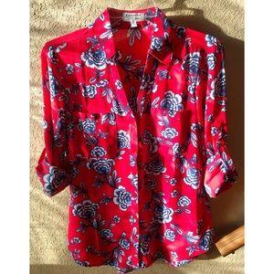 267e4f42405a Express Tops - ❤ Express floral portofino shirt ❤️